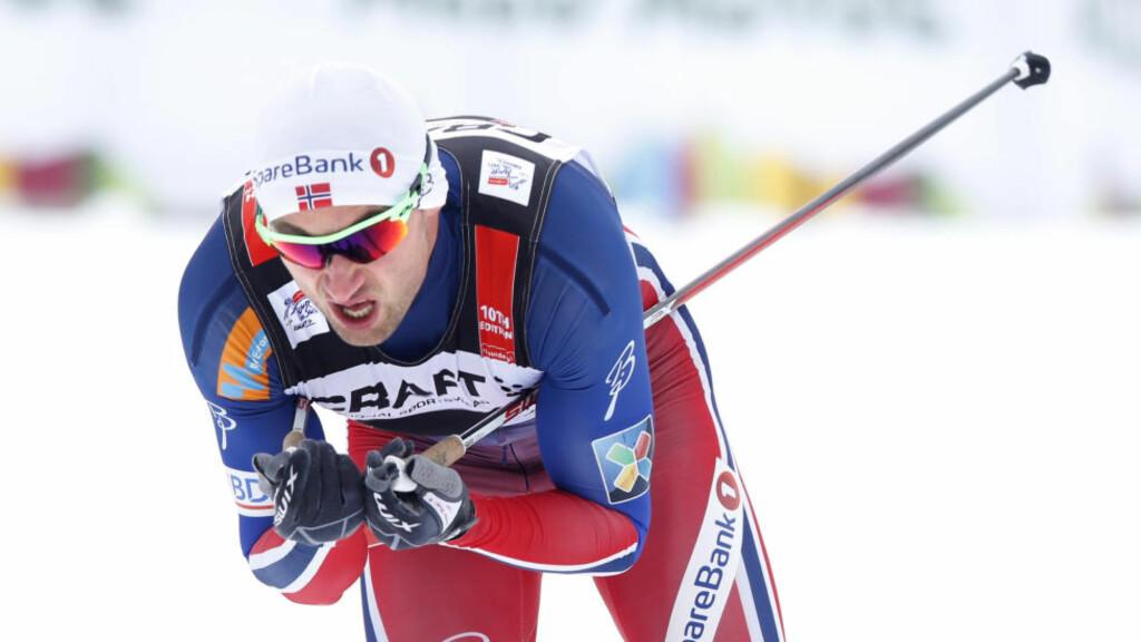 FORTSATT PÅ ANFDREPLASS TOTALT: Men nå skiller det bare tre sekunder ned til Sergej Ustjugov. Foto: Terje Pedersen / NTB scanpix