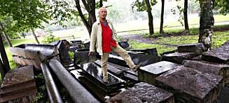 Jobbet med parken i 30 år før han døde. Nå er det usikkert om skandaleparken blir ferdig