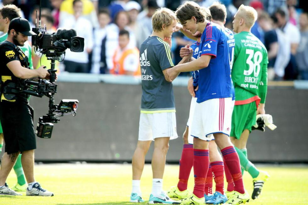 TALENTFULLE: Real Madrid-spiller Martin Ødegaard og VIF-kompis Sander Berge er begge sammenlignet med store stjerner. Foto: Bjørn Langsem / Dagbladet