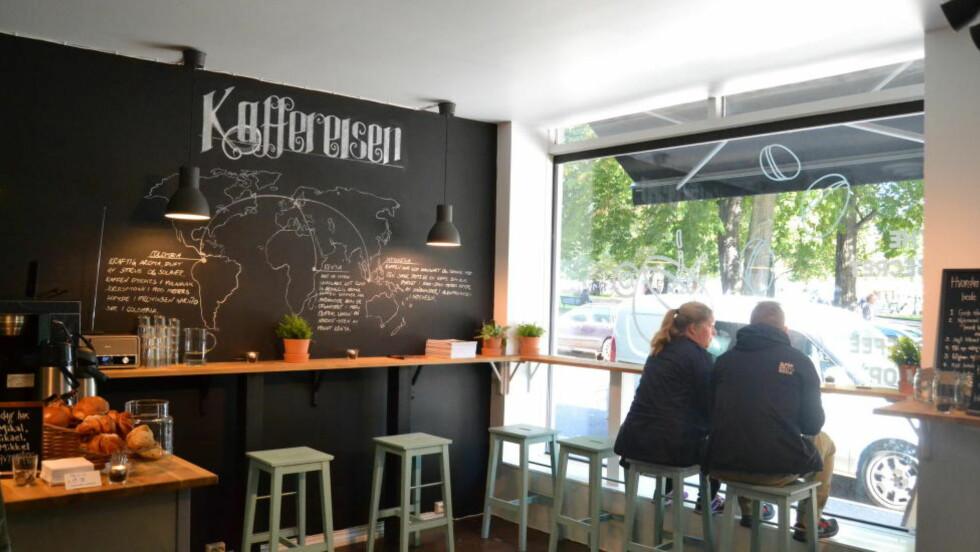 STUNT: På fire uker er The Secret Coffee Shop blitt et kaffested folk har snakket om på Grünerløkka. I morges avslørte Coop at kjeden står bak. Foto:JCP NORDIC