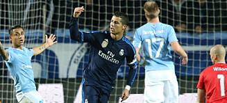 Her har Ronaldo akkurat rundet 500 mål (!) - mot Hareides Malmö