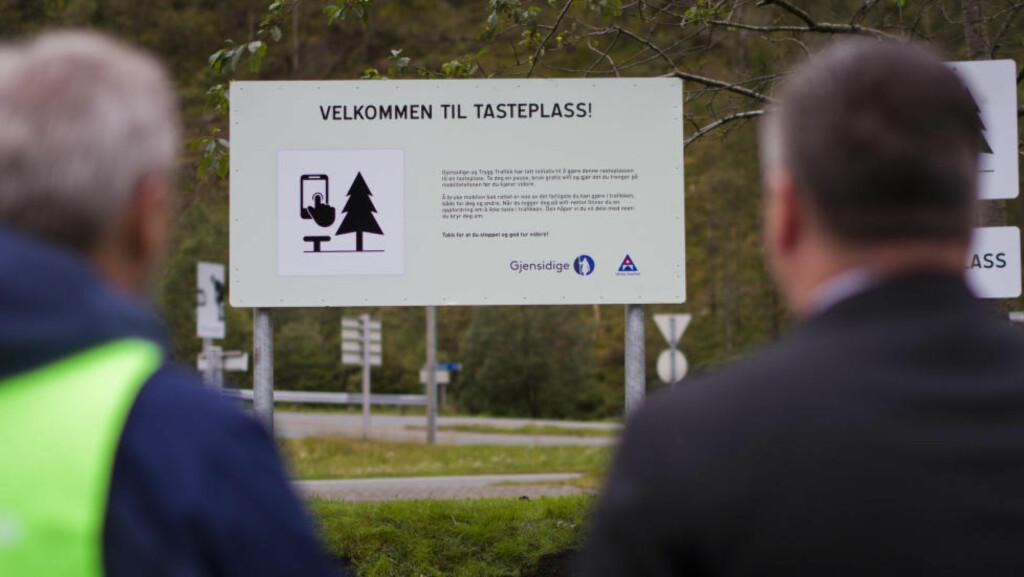 VERDENS FØRSTE TASTEPLASS:  Trygg Trafikk og Gjensidige står bak initiativet. Foto: Trygg Trafikk