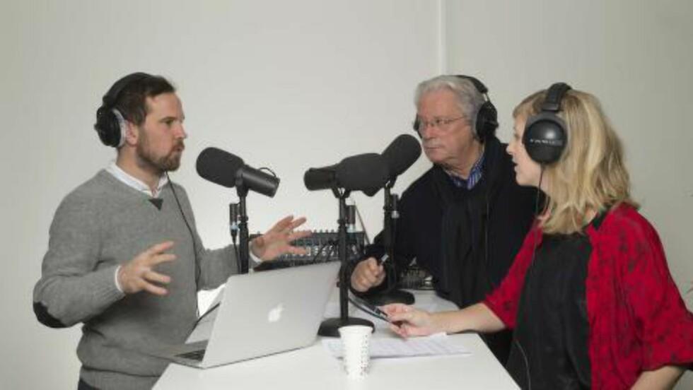 PODCAST: Borch i studio med Pettersen og Salvesen. Foto: Cappelen Damm