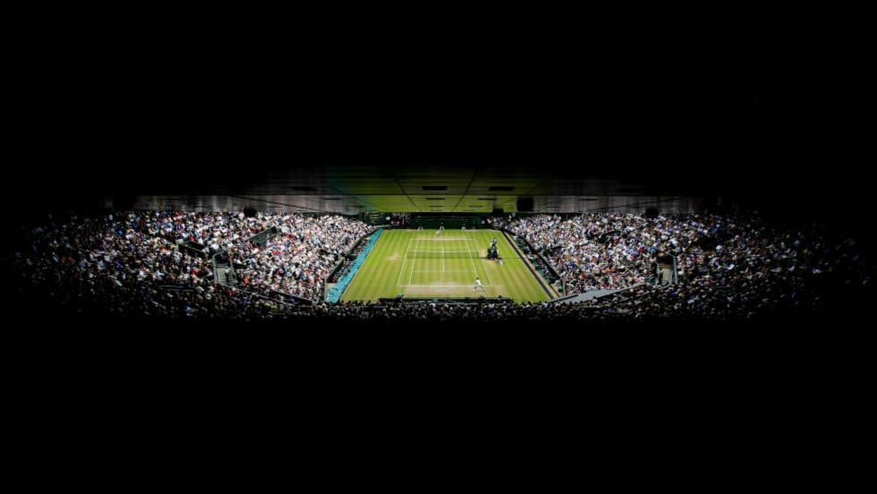 OMFATTENDE JUKS: Tennissporten rystes av det som tyder på en omfattende kampfiksing-skandale. Ifølge BBC og Buzzfeed News ble tre av de mistenkte kampene en del av Wimbledon-turneringen. Illustrasjonsbilde. Foto: NTB Scanpix