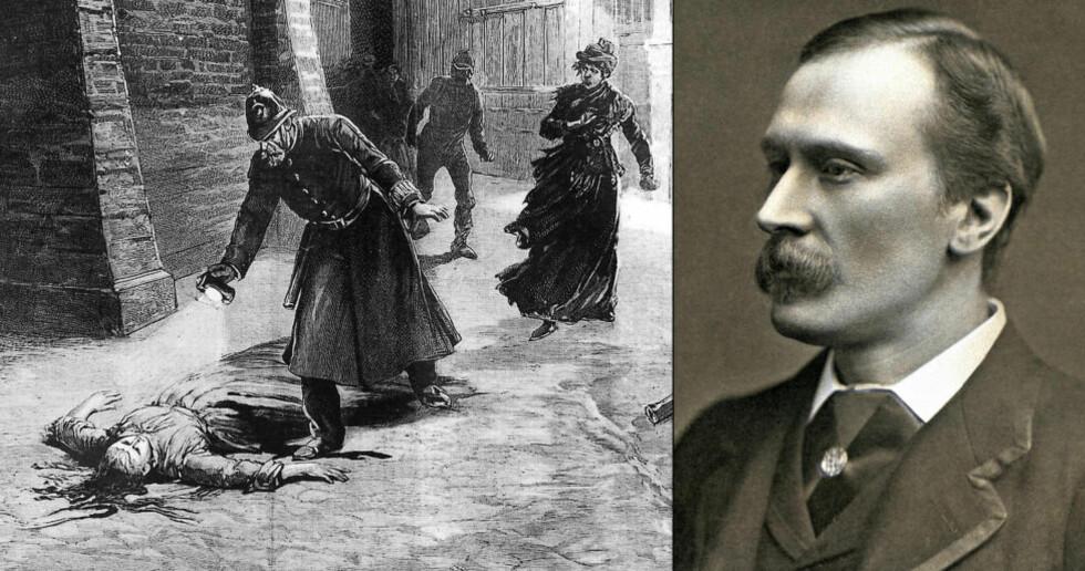"""NY TEORI: Jack the Ripper og drapene på fem prostituerte i London er trolig verdens mest omtalte drapsgåte. En ny bok hevder den populære komponisten og musikeren Michael Maybrick (1841-1913) sto bak drapene. Foto: Illustrasjon fra """"Le Journal Illustre"""" / NTB Scanpix"""