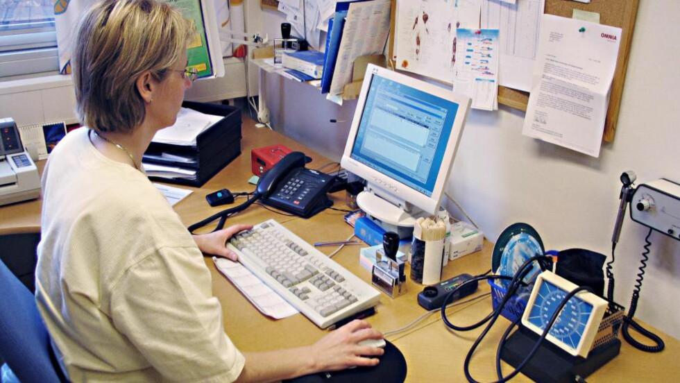 REGISTRER HELSA DI: Opplysninger i kjernejournalen er en sum av det som hentes fra offentlige registre, det du legger inn selv og det legen registrerer av «kritiske opplysninger». Foto: ESPEN BRATLIE / SAMFOTO