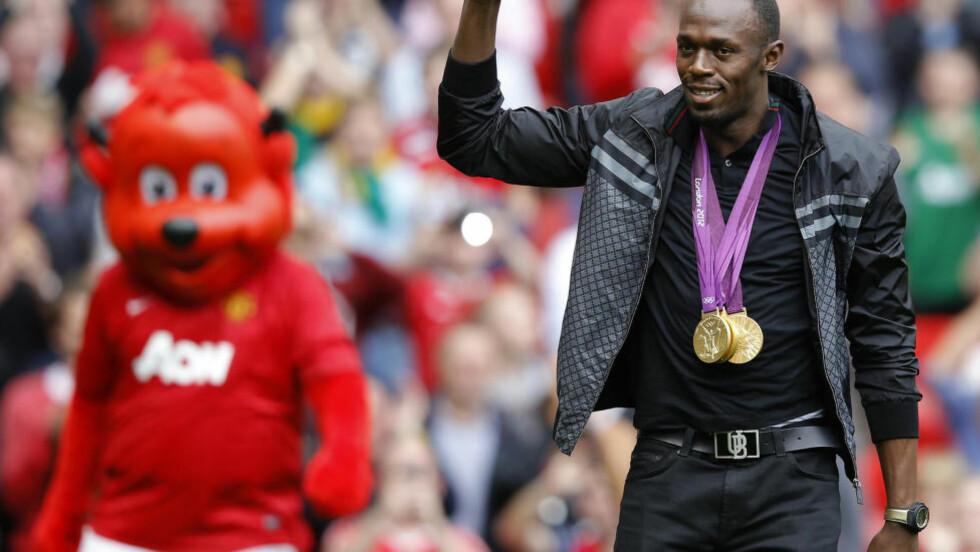 IKKE VAN GAAL-FAN: Usain Bolt er kritisk til Manchester United-manager Louis van Gaal. Foto: REUTERS/Phil Noble