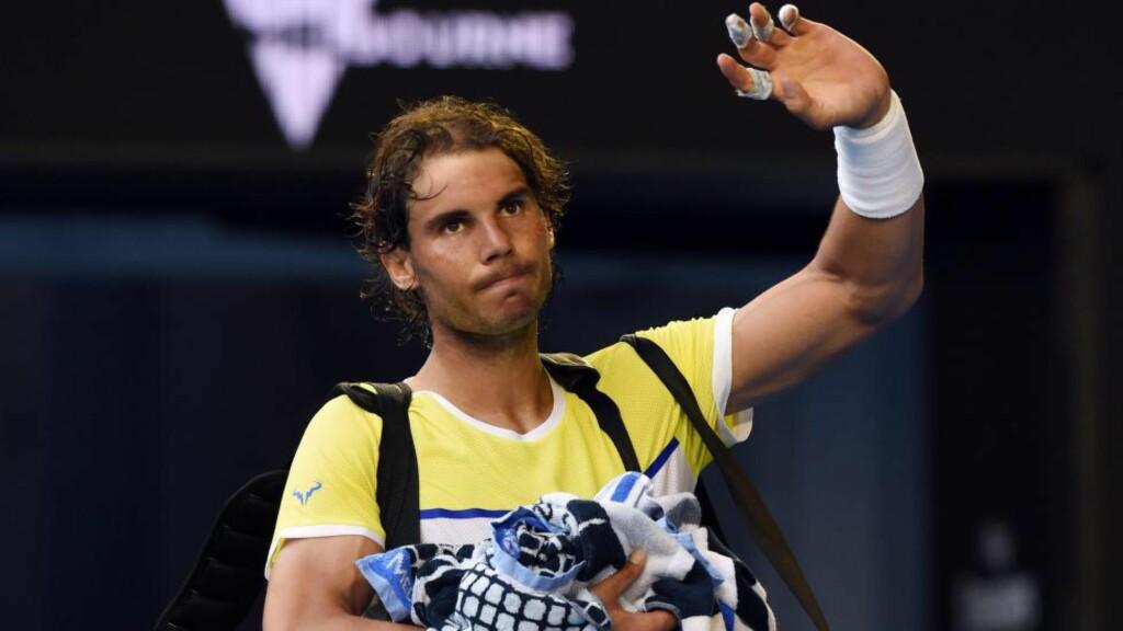 TRØBLER: Tidligere tennisproff Christian Ruud er en stor tilhenger av Rafael Nadal (29). Nordmannen tror likevel det kan gå mot slutten for den spanske stjernen. Foto: EPA/TRACEY NEARMY AUSTRALIA AND NEW ZEALAND OUT
