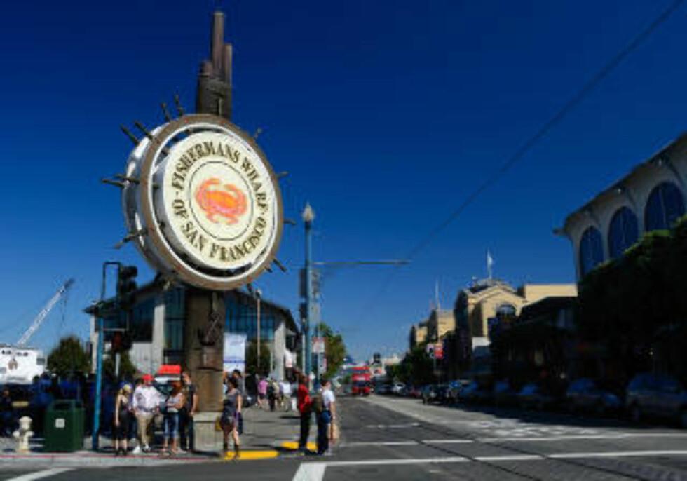 SAN FRANCISCO:  Mange turister tar en tur til kjente Fisherman's Wharf, som før var byens fiskehavn, nå underholdning og spisesteder. Foto: NTB SCANPIX