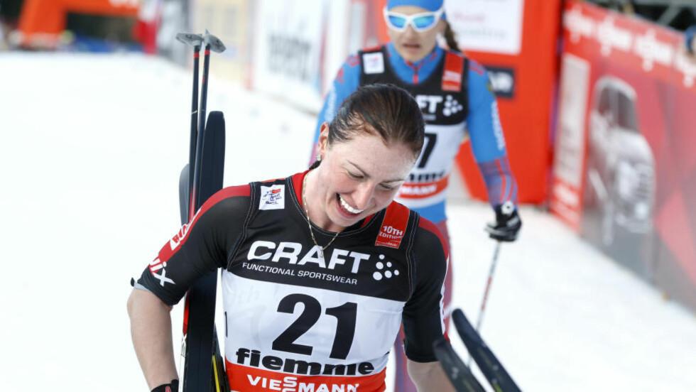 UTKLASSET: Justyna Kowalczyk ble slått med hele sju minutter av Britta Johansson Norgren. Foto: Terje Pedersen / NTB scanpix