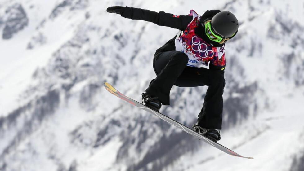 LOVENDE FORM: Silje Norendal var bare 1,3 poeng fra seierspallen i Laax Open i slopestyle lørdag. Det var hennes første snowboardkonkurranse etter seks ukers skadeavbrekk. Foto: REUTERS/Lucas Jackson