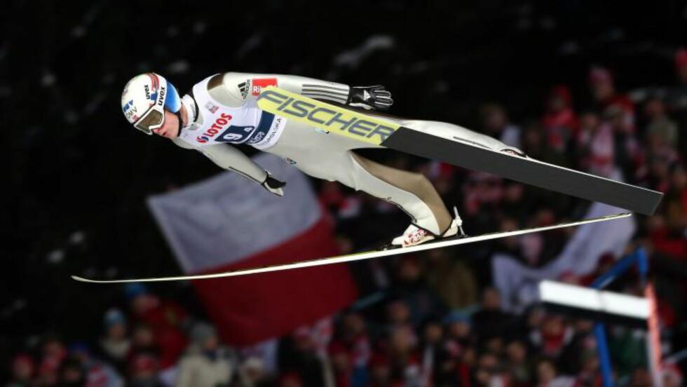 PALLEN GLAPP: Kenneth Gangnes endte på 4. plass.  EPA/Grzegorz Momot POLAND OUT