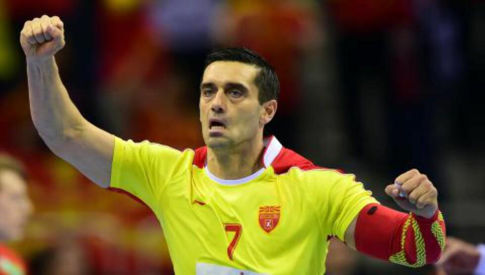 VISTE KLASSE: Den makedonske stjernespilleren Kiril Lazarov herjet med Norge. Foto. Scanpix