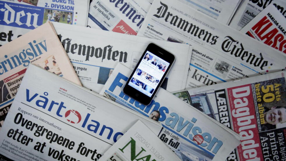 IKKE SOM I GAMLE DAGER: Mobilbrukerne svikter nettavisenes forsider. Foto: SCANPIX