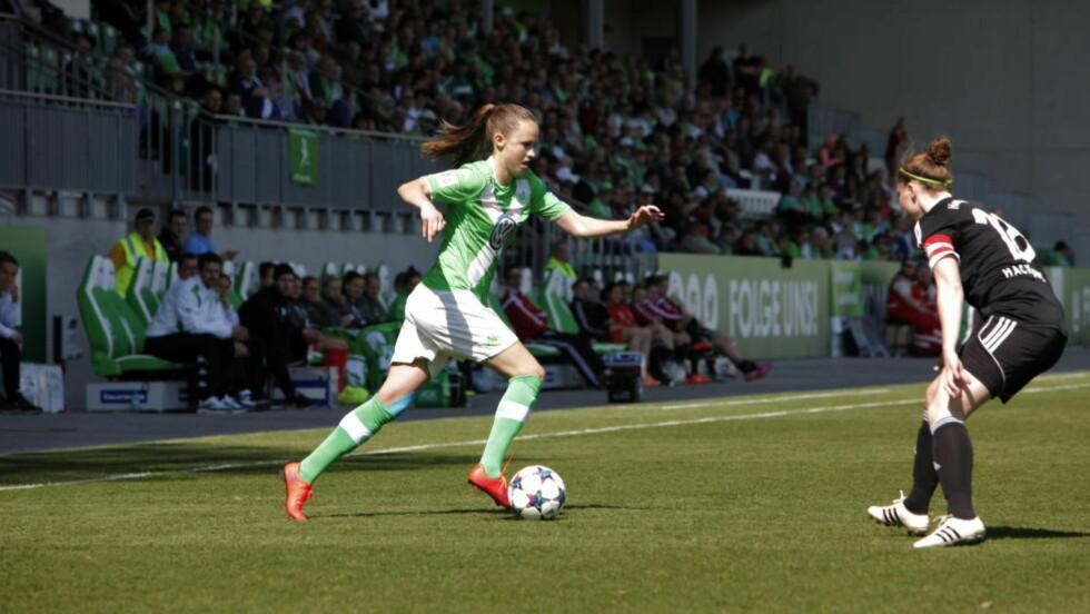 ENDELIG TILBAKE: Etter fem måneder på sidelinja er Caroline Graham Hansen endelig tilbake etter kneskaden. Foto: Tormod Brenna / Dagbladet