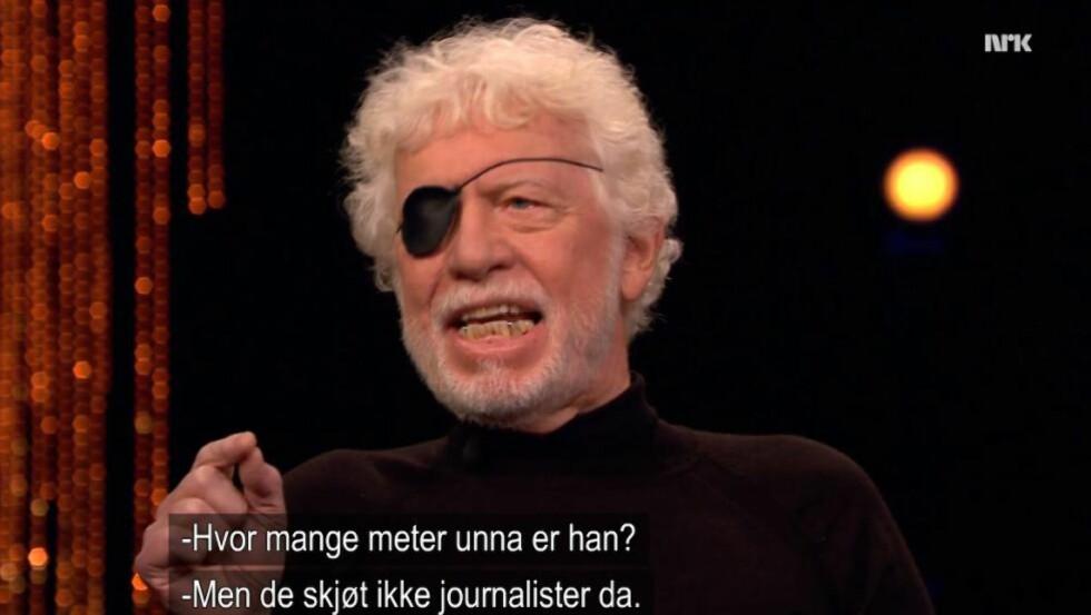 ISRAEL-VENNER REAGERER PÅ TVEIT: MIFF mener Tveit her antyder at Israel skyter på journalister. Foto/skjermdump: NRK
