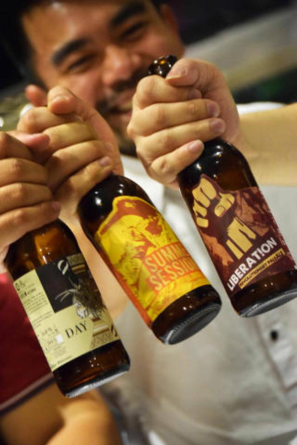 MER ENN PILS: Craftpoint Brewing ville befri befolkningen fra tankegangen om at øl er ensbetydende med pils. Foto: MARI BAREKSTEN