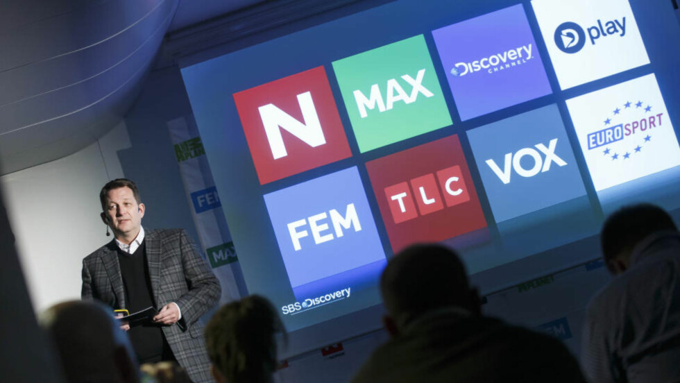 FULL STRID: TVNorge-eier Discovery Networks og Telenor-eide Canal Digital har i lengre tid kranglet om hvor mye sistnevnte skal betale for å kunne distribuere Discoverys kanaler. Her med Discovery-sjef Harald Strømme. Foto: NTB Scanpix Foto: Heiko Junge / NTB scanpix