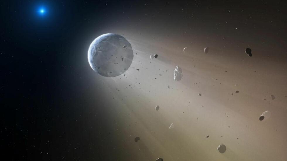 DØDSSTJERNE: Ved hjelp av Kepler-teleskopet har en gruppe astronomer oppdaget en «dødsstjerne» Star Wars verdig i stjernebildet Jomfruen. Illustrasjon: Mark A. Garlick/Harvard-Smithsonian Center for Astrophysics via AP/NTB Scanpix