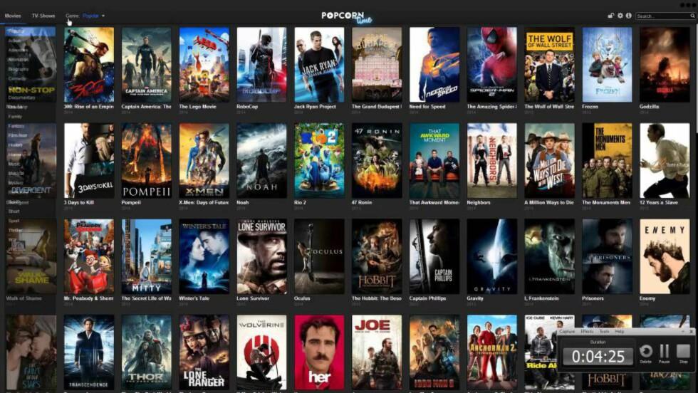 STENGT: Pirattjenesten Popcorn Time er stengt. Men hva har film- og tv-bransjen lært?