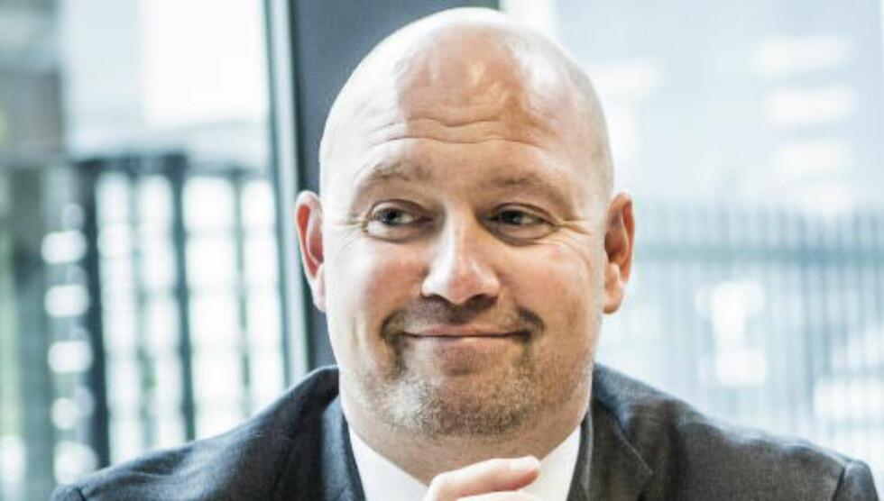 LIKE BLID TROSS KRITIKK: Justisminister Anders Anundsen (Frp) avfeide kritikken han fikk etter reklamefilmen i august. Foto: Christian Roth Christensen / Dagbladet