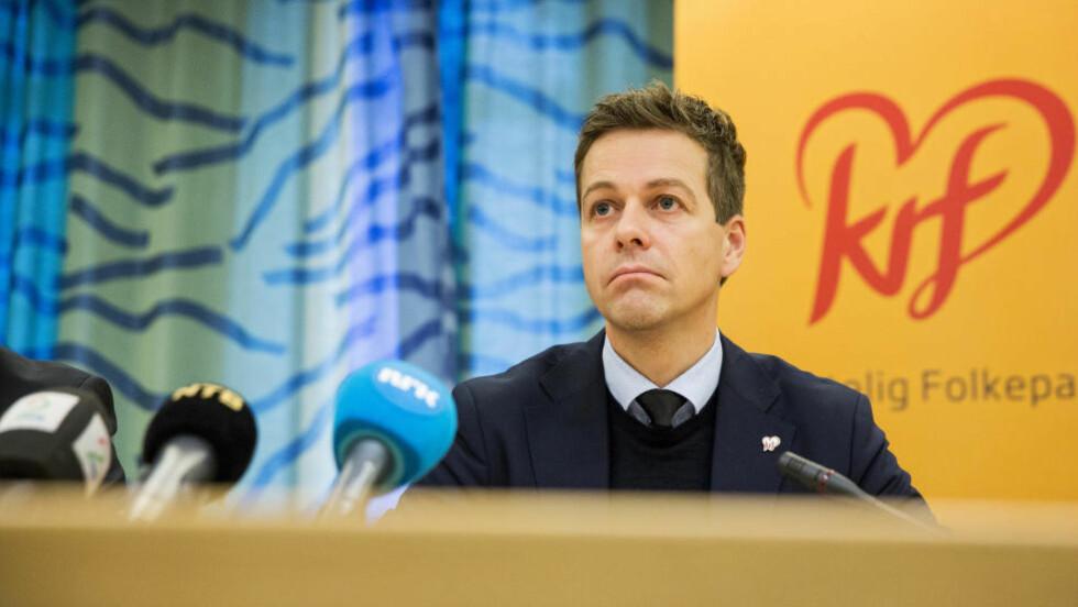 SMERTEGRENSEN: Partileder Knut Arild Hareide er krystallklar på hvor smertegresen går for KrF før budsjettforhandlingene. Foto: Tore Meek / NTB scanpix