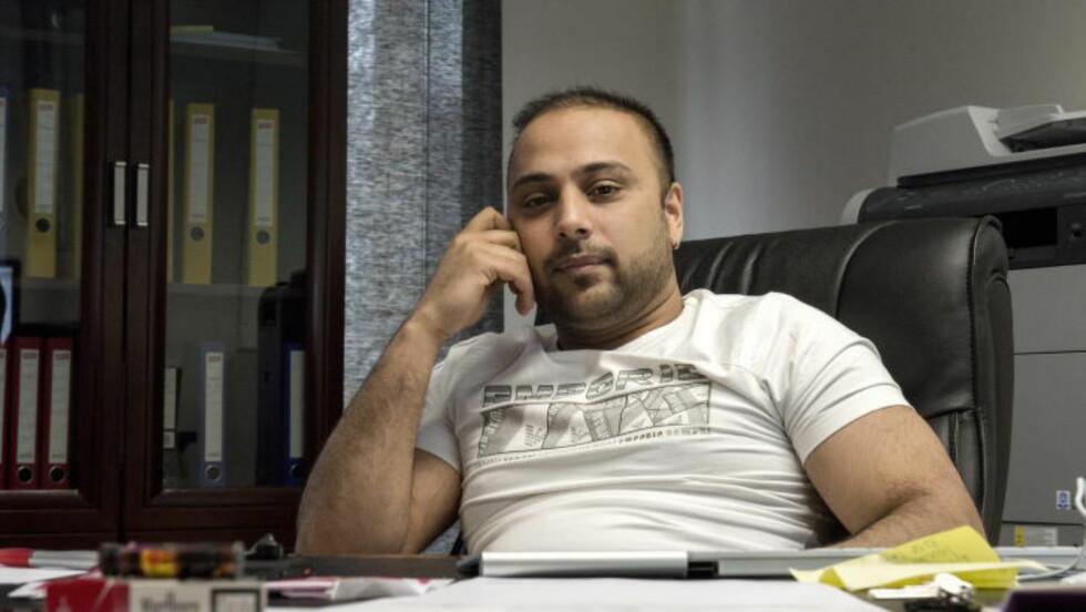 TILTALT: Sajjad Hussain (36), som var eier og daglig leder i Lime Minipris, er av påtalemyndigheten utpekt som den mest sentrale i det svært omfattende sakskomplekset.  Foto: Øistein Norum Monsen / DAGBLADET