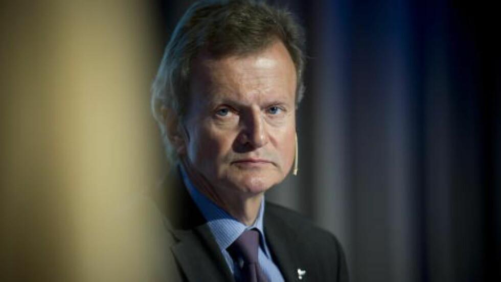 GIKK AV: Jon Fredrik Baksaas gikk av som konsernsjef i Telenor i april i fjor. Han satt i Vimpelcom-styret da de angivelige betalingene til postkasseselskapet skal ha blitt gjort.  Foto: Øistein Norum Monsen / DAGBLADET