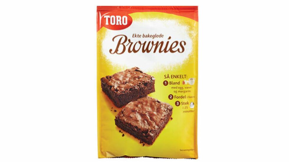 IKKE SPIS DENNE: Er browniene merket med utløpsdatoen i 2017, må du kaste den eller returnere den, forteller Orkla Foods. Foto: Toro