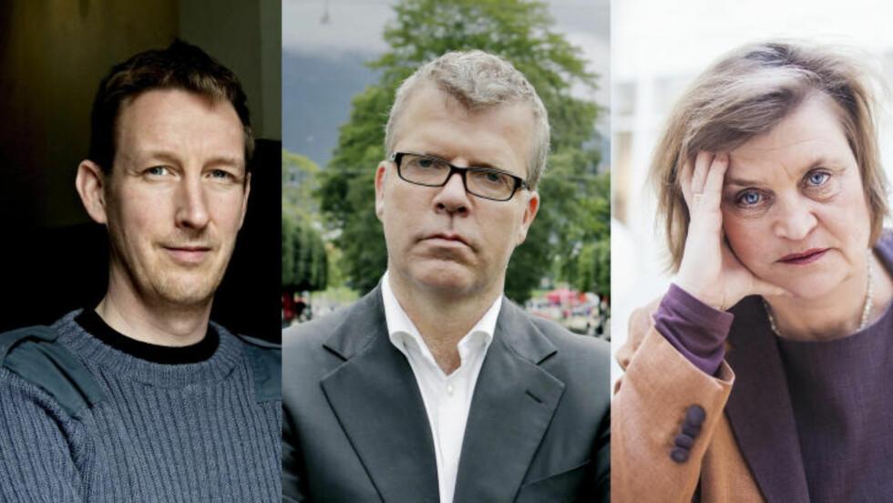 DROPPER NRK: Asle Toje og Jon Hustad dropper NRK i framtiden. Elin Ørjasæter forstår reaksjonen. Foto: Scanpix / Frida Marie Grande
