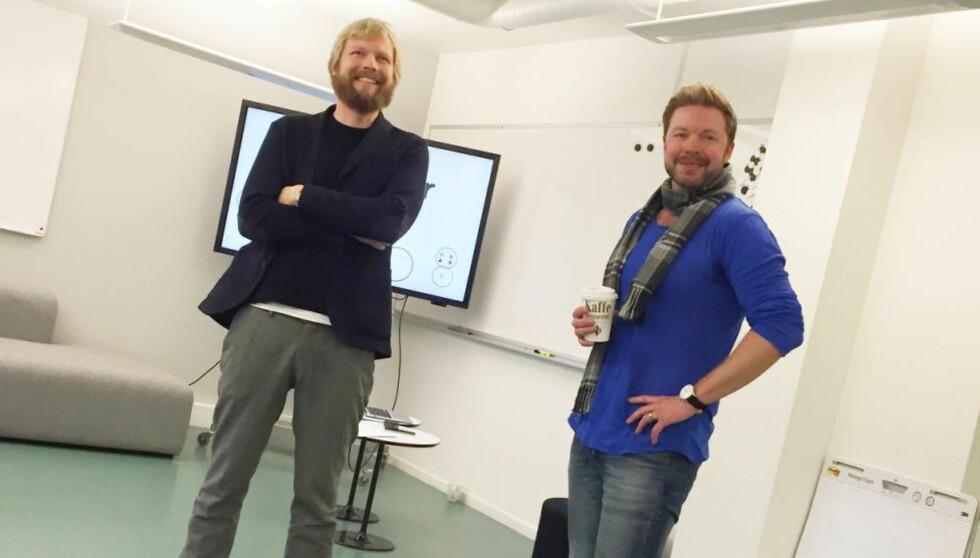 NY MODELL: Lars Eirik Eide og Even Aas-Eng er to av de ansvarlige bak nysatsingen Filter Media. Foto: Filter Media