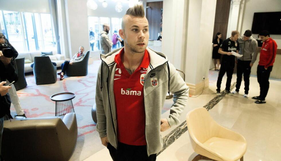 KLAR FOR OPPGAVEN:  Mye tyder på at Marcus Pedersen får tillit fra start i kveld. Foto: Bjørn Langsem / Dagbladet  .