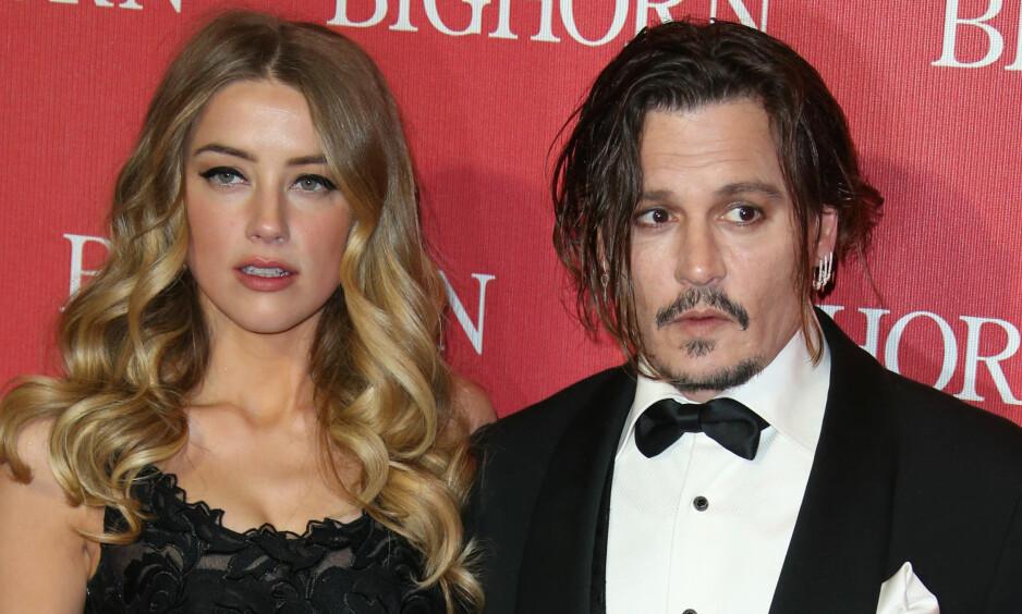 <strong>SNIKFILMET:</strong> Amber Heard filmet en aggressiv Johnny Depp med mobilen uten at han visste det. Filmen styrker Heard som fra før av har beskyldt Depp for å ha slått henne i ansiktet med en mobiltelefon. Foto: FayesVision/WENN.com /NTB Scanpix