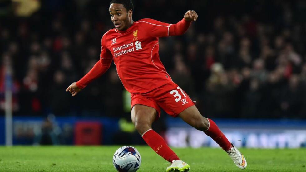 OVERGANG: Raheem Sterling koster Manchester City 605 millioner kroner. Foto: AFP PHOTO / BEN STANSALL