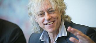 Bob Geldof mottar Erik Byes minnepris