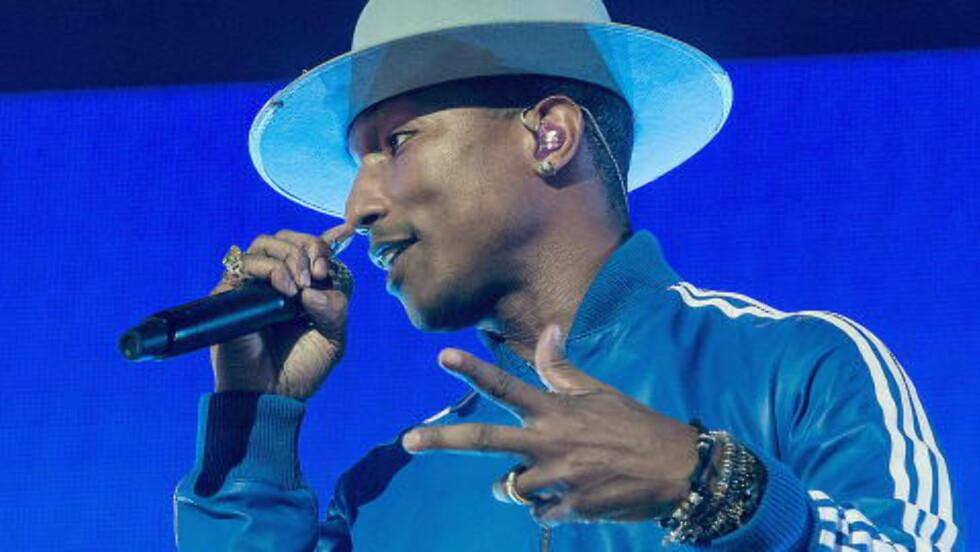 <strong>FÅR IGJEN PENGER:</strong> Pharrell Williams får redusert plagiatdommen med rundt 17,1 millioner kroner. Foto: Bjørn Langsem / DAGBLADET
