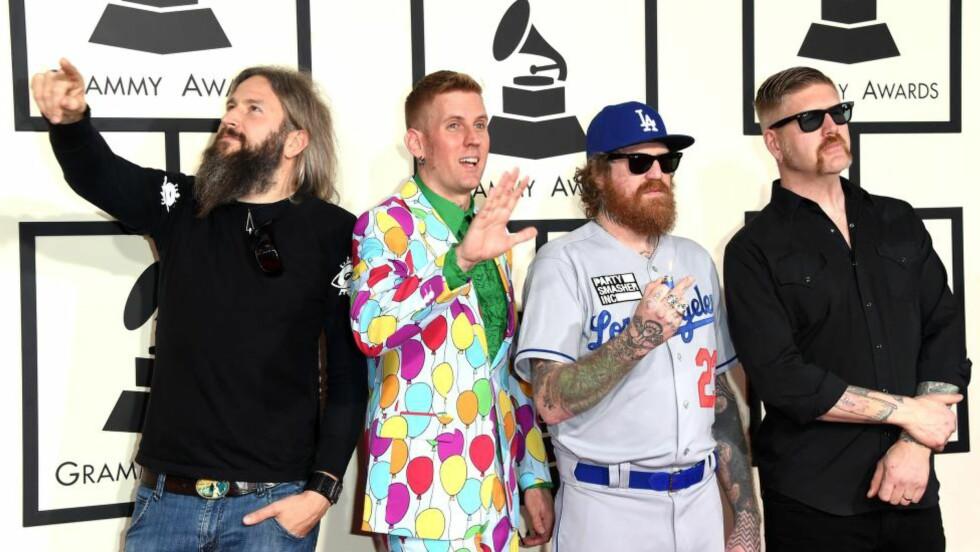AVLYSER:  Bandet Mastodon avlyser hele sin sommerturné. Her fra Grammy-utdelingen i 2015. Foto: NTB Scanpix
