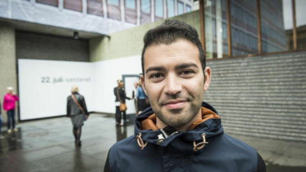 TILFREDS AUF-LEDER: Mani Hussaini syntes 22. juli-utstillinga ga en riktig framstilling av dagen for snart fire år siden. Foto: Lars Eivind Bones / Dagbladet
