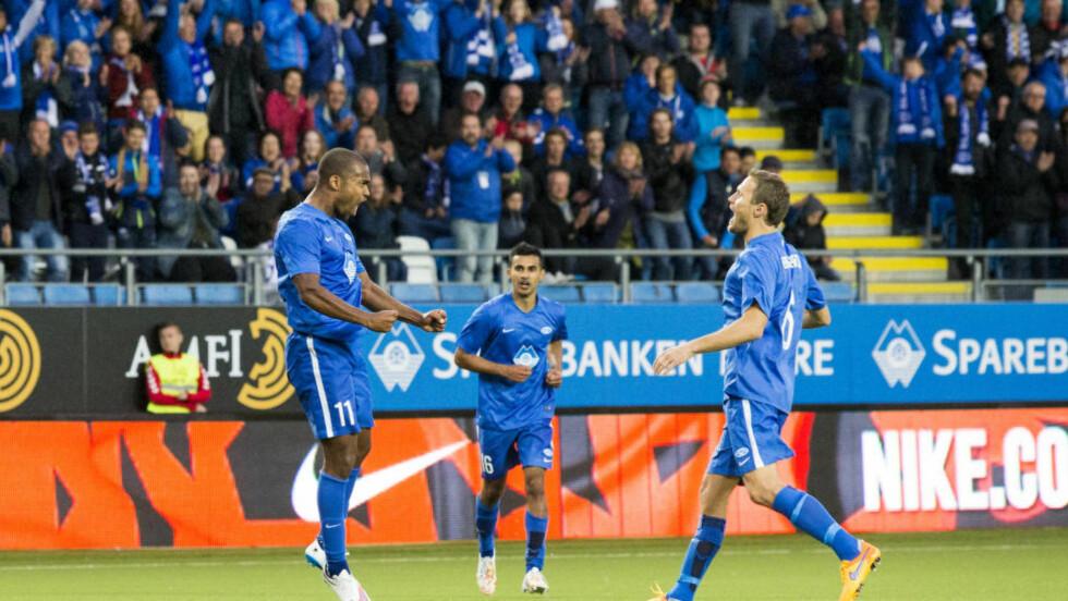 VIDERE: Molde er videre i Champions League etter å ha slått Pyunik Jerevan 5-1 sammenlagt.  Foto: Svein Ove Ekornesvåg / NTB scanpix