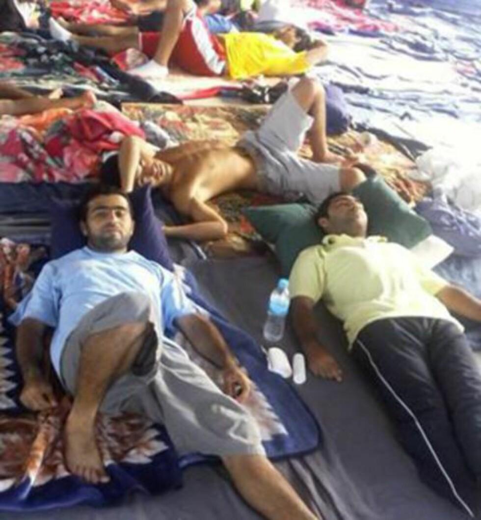 INTERNERT: Ifølge rapporten fra Human Rights Watch var 1056 menn internert på Manus Island på Papua Ny-Guinea etter tall fra 31. oktober 2014.