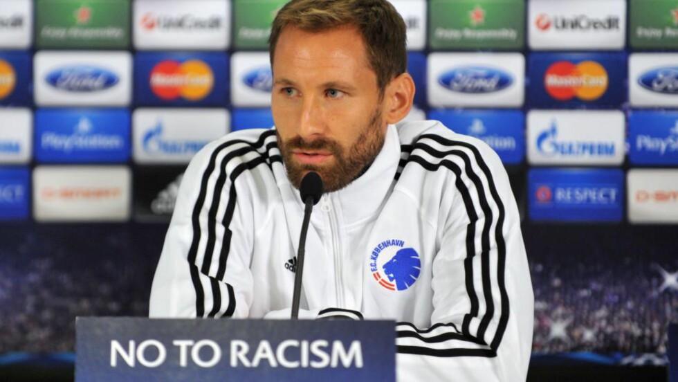 TIL MALMÖ: Fotballkeeperen Johan Wiland forlater FC København til fordel for Åge Hareides Malmö FF. Foto: AFP PHOTO/OZAN KOSE
