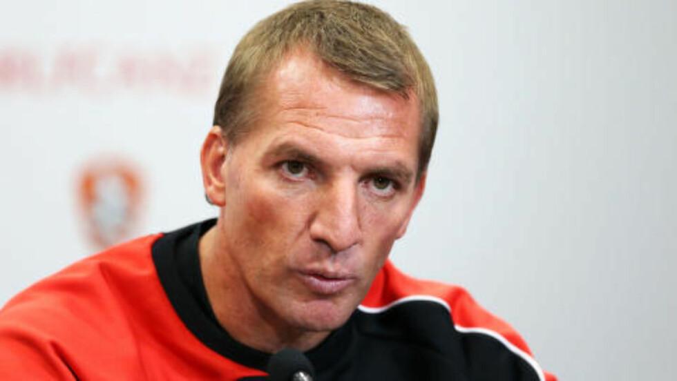 TRENGER EN MÅLFARLIG SPISS:  Liverpool-manager Brendan Rodgers. Foto: NTB Scanpix / Jason O'Brien