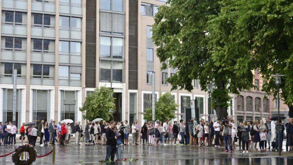 ÅPNET: Nå er 22. juli-utstillinga åpent for publikum. Foto: Benjamin A. Ward / Dagbladet