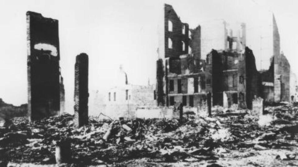 SAN FRANCISCO:  I gamle dager fikk jordskjelv store konsekvenser i San Francisco. Her er et bilde fra 1906. Foto: AP Photo/U.S. Geological Survey