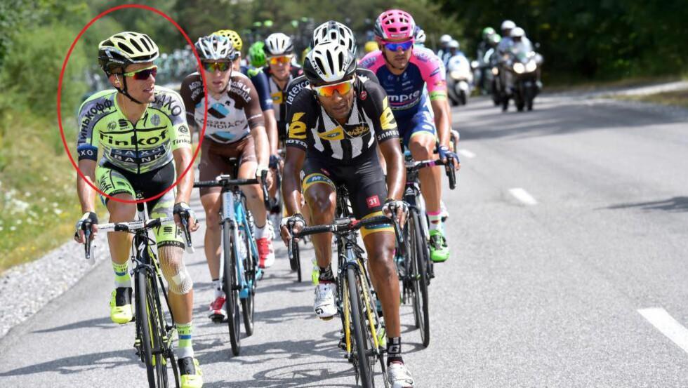 PROPPEN I: Rafal Majka satt med i bruddet under onsdagens etappe, men slapp seg ikke tilbake til hovedfeltet da Alberto Contador havnet i grøfta. FOTO: Tim De Waele/TDWSPORT.COM