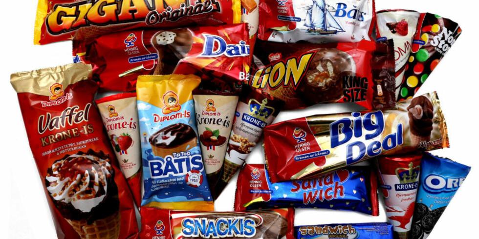 KALORIRIKT: Du bør styre unna de største om du spiser mye iskrem, men de små kan vre greie en gang iblant. Foto: ERIK HELGENESET