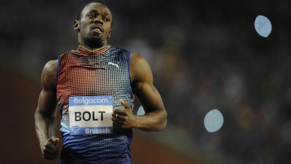 MYE Å BEVISE: Alles øyne er rettet mot Usain Bolt når jamaicaneren stiller til start på 100-meteren under Diamond League-stevnet i London fredag. Foto: AFP PHOTO / JOHN THYS