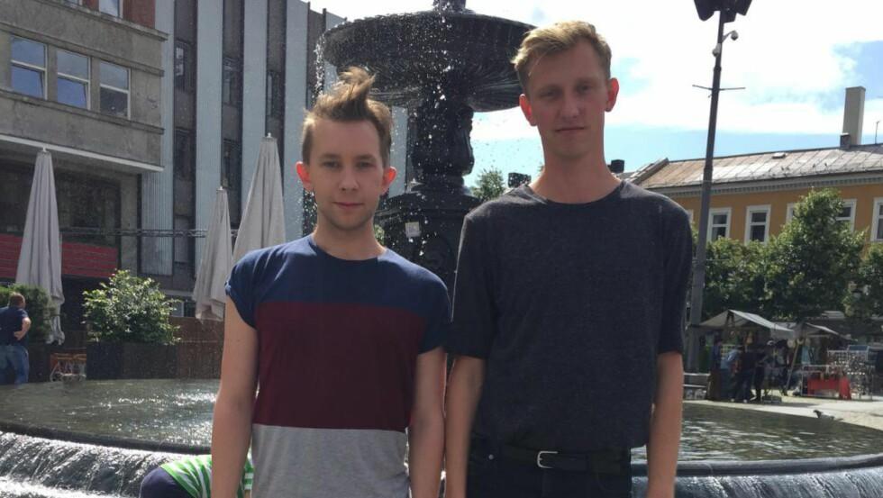 BLE SLÅTT:  Christoffer Paulsen og Mats Moe ble slått på åpen gate i Oslo. Foto: Privat