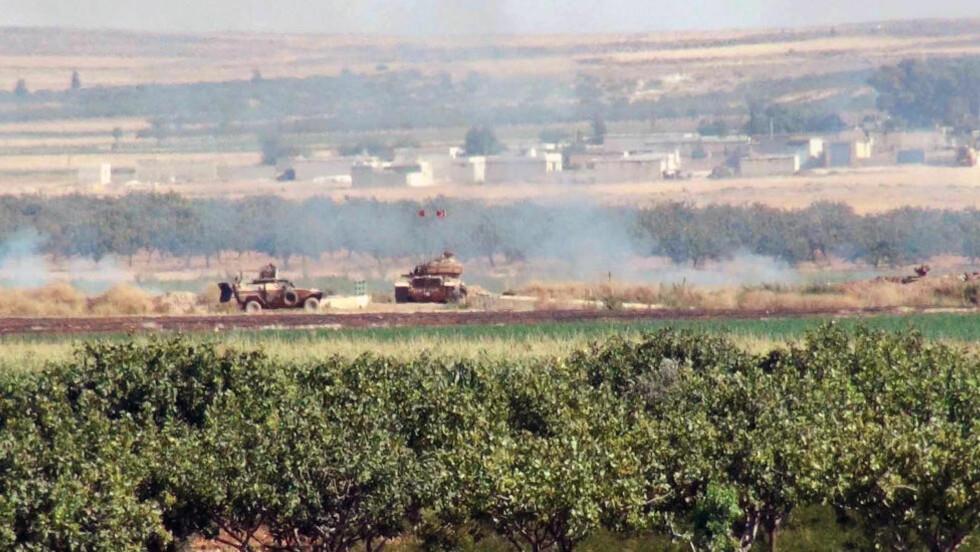 ANGREP: Tyrkiske kampfly angrep natt til fredag IS-mål i Syria, sier en tyrkisk tjenestemann. Foto: Xinhua/Mert Macit/NTB Scanpix