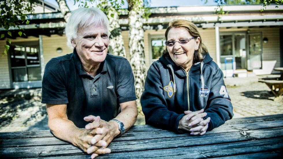 RADARPAR: Frode Kyvåg og Lucy Kathleen Thoresen har jobbet sammen i 39 år med Norway Cup. Foto: Thomas Rasmus Skaug / Dagbladet.